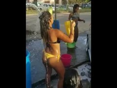Venezuelans in Trinidad and Tobago girl do car wash 2020 Thumb