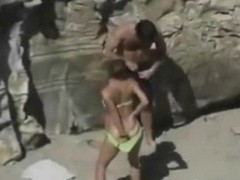 Amateur Doggystyle Quickie Public Beach Thumb