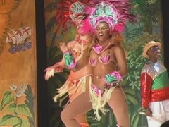 Brazilian Samba queen pops her pussy after the show Thumb
