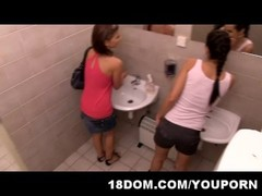 Voyeur guy experience humiliation and embarrassment for spying in the public toilet Thumb