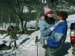 Threesome in the snow - Lucy Lee Thumb