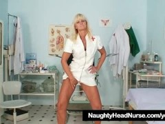 Mature Frantiska pussy gaping in nurse uniform at clinic Thumb