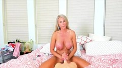 Blonde MILF Playing On Webcam When Husband Is Working Thumb