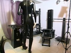 Leather suit vibrator orgasm - Absurdum Productions Thumb