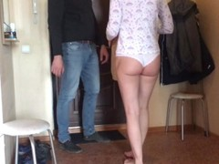 BROTHER CUCKOLD WATCHING AND JERKING, AS HIS WIFE IS CHEATING WITH THE COUR Thumb