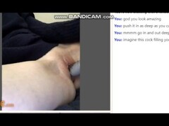 OMEGLE obedient girl edges with dildo and fingers till orgasm (with audio) Thumb