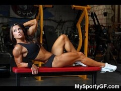 Real Hot Muscled Gym Girls! Thumb