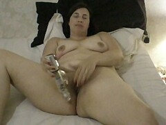 Drunk girlfriend fucks herself with her vibe Thumb