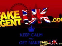 FakeAgentUK Sexy fake casting amateur takes huge cumshot in mouth Thumb