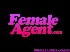FemaleAgent Oiled up slim beauty in sexually charged casting Thumb