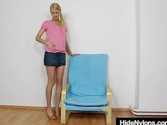 Charming Kasia stuffs her twat plus red panty-hose Thumb