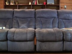 The Lelu Twins double vision mutual masturbating on the couch Thumb