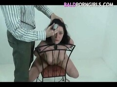 BaldPornGirls.com's slut - Gabriela long black hair is shaved off while we humiliate her Thumb