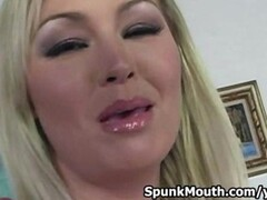 Busty Superstar Abbey Brooks Tittyfucks big dick for cum in mouth Thumb