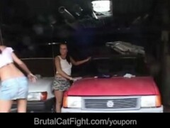 Hussy pussy causes a catfight and gets fucked Thumb