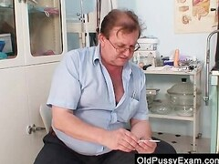 Unshaved twat mother Tamara embarrassing doctor examination Thumb