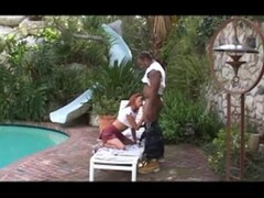 Redhead Babe Takes Black Cock By The Pool - Candy Shop Thumb