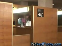 Babes Stripping In Passport Office Booth Thumb