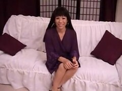 Smoking Hot Asian Mature Does DP Thumb
