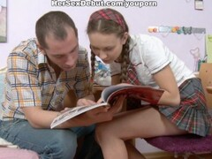 Naive schoolgirl in her first hard anal porn video Thumb