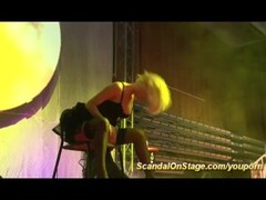 naked blonde lapdance on public stage Thumb