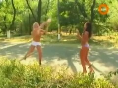 Topless Babes Playing Volleyball In Public Thumb