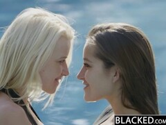 BLACKED Dani Daniels and Anikka Interracial Threesome Thumb