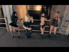4 babes in shiny outfits dance for you Thumb
