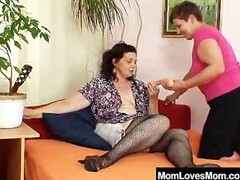 Gray shorthaired mother lesbian games Thumb