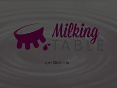 MilkingTable Secret Blowjob, Under the Table Thumb