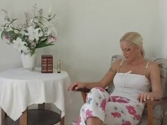 Blonde Gets Off On A Vibrator And Her Fingers  - CRITICAL X Thumb