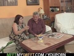 Innocent girl is seduced by a granny and fucked by a daddy Thumb