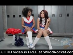 Black cheerleaders pussyfuck in the locker room Thumb