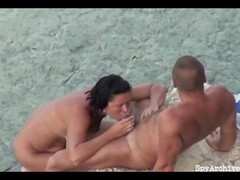 GF gives head on the beach and gets filmed Thumb