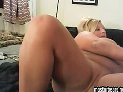 Blonde British housewife fingering at home Thumb