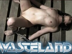 She sucks his cock in leather and chains before cumshot Thumb