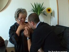 French mature Angela gangbanged Thumb