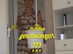 German Maid fucked in Yellow Rubber Gloves Thumb