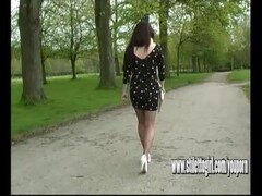 Stiletto girl Jenna walks sexually wearing erotic pair of high heel shoes Thumb