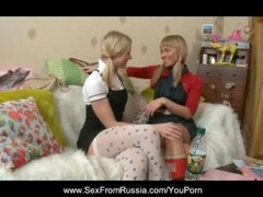 Russian Blonde Teen In Pigtails Thumb