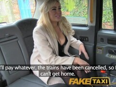 FakeTaxi Back seat shagging and surprise creampie pay for taxi fare Thumb