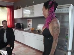 Tattoo and Big Tit MILF Seduce to Fuck by German Chef in Office Thumb