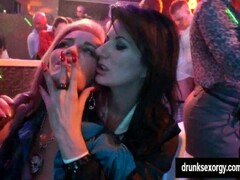 Sinfully lesbians gets wild in a club Thumb