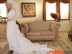 Punishbox - Blonde Bride gets put in her place Thumb