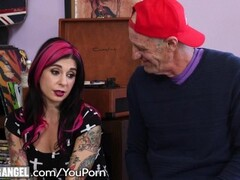 Emo Step-Sisters Double Team a Cock Thumb