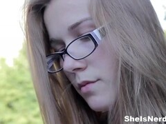 She Is Nerdy - Sweetie in glasses loves sex Thumb