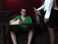 Amateur female tutor seduces sucks and fucks her student Thumb