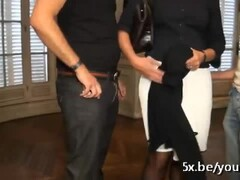 French mature Sophie double penetrated Thumb