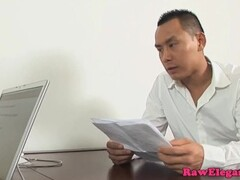 Jessica Moore doublepenetrated in office ffm Thumb