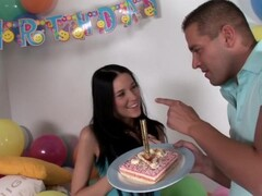 Sexy babe fucked for a birthday party - DDF Productions Thumb